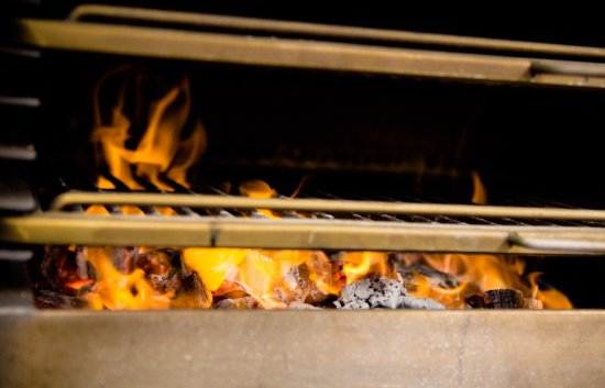 Beesands, UK: Josper Oven - gives that charcoal taste to our dishes all year round.