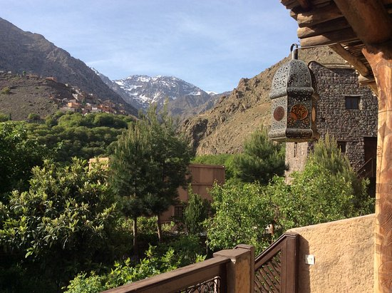Kasbah Du Toubkal : View of Mount Toubkal from our terrace.