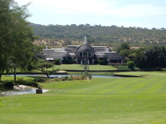 Malelane, Sydafrika: Clubhouse view from 9th tee.