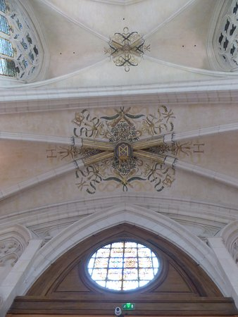 Chateau of Vincennes: Plafond de la la Sainte Chapelle