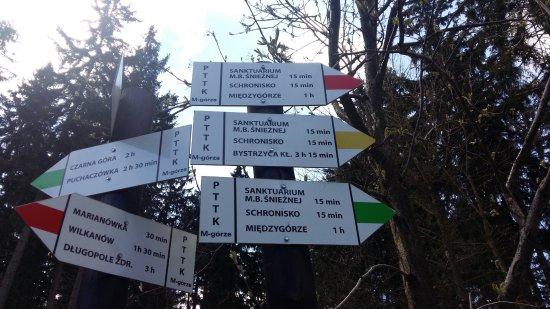Miedzygorze, Польша: tablice kierunkowe / Góra Igliczna