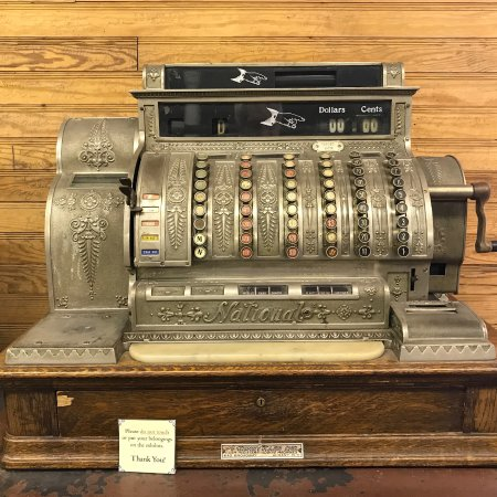Schoharie, Нью-Йорк: A very early NCR register. Buttons go to $900