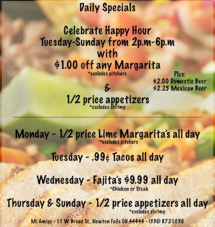 Newton Falls, OH: We have Daily Specials and celebrate Happy Hour