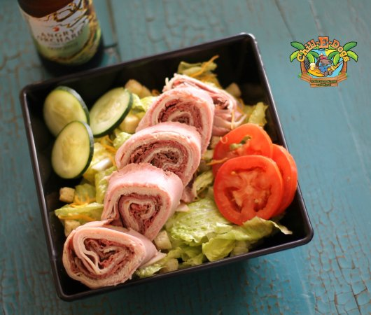 Edgewater, فلوريدا: Chef Salad made with FRESHLY sliced Boars Head Provisions