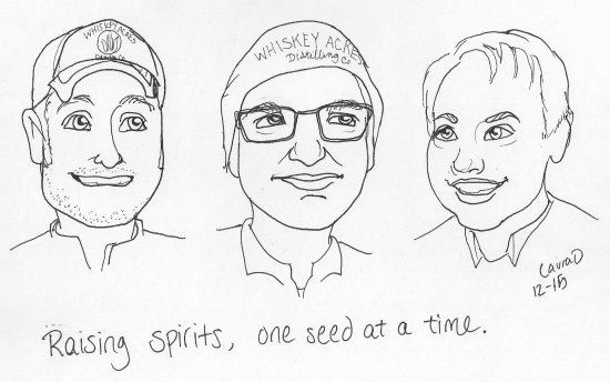 DeKalb, IL: The three characters that thought opening a distillery was a good idea.