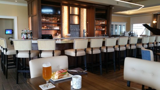 Shearwater: Our 16 seat unique bar and multi-level seating