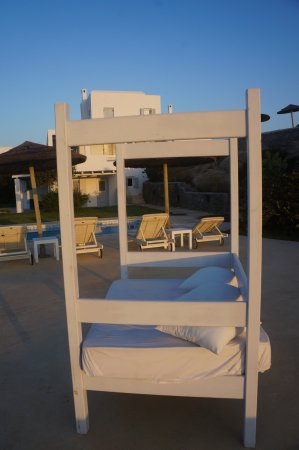 Naxian Collection: Lounging bed at our pool