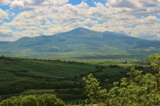 Pienza, Itália: THE VIEW was panoramic and gorgeous.