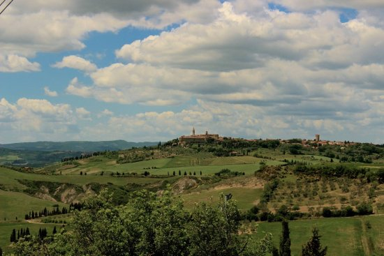 Pienza, which we could see from our perch.