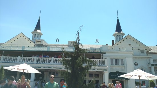 The famous Churchill Downs Twin Spires.