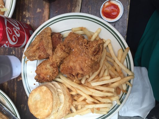 Pies-N-Thighs: Chicken and fries basket (fries were good, biscut was so-so)