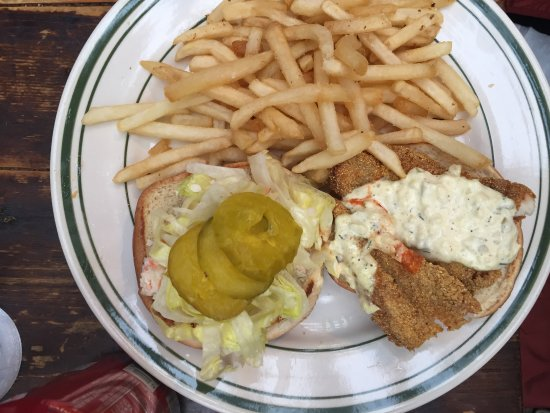 Pies-N-Thighs: Catfish sandwich (suggest asking customer if they want coleslaw on the side...too much added)