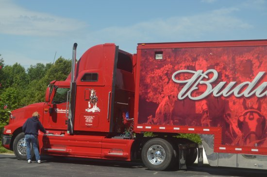 Boonville, MO: One of the many trucks used to haul the 8-hitch Clydesdale team.