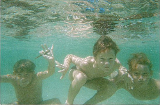 Point Lookout, Australie : Fun in the clear water