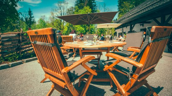 Grossgmain, Αυστρία: Terasse Gastgarten