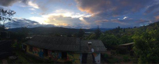 Sopó, Colombia: Vista desde la casa. Sencillamente espectacular.