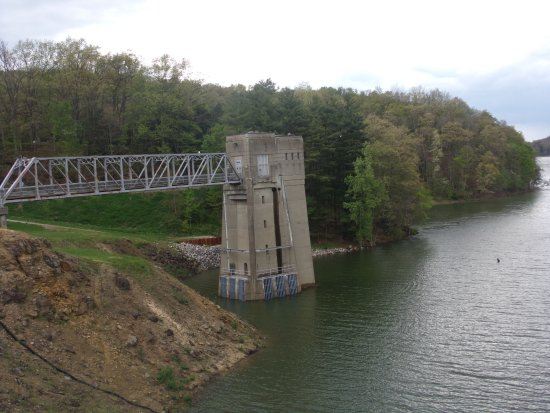 Loudonville, OH: On the Dam at Mohican State Park