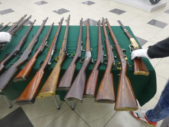 Pleven Epopee 1877 : Some of the weapons on display