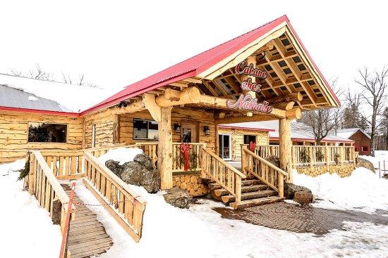 vue de cabane en hiver photo de cabane chez nathalie. Black Bedroom Furniture Sets. Home Design Ideas