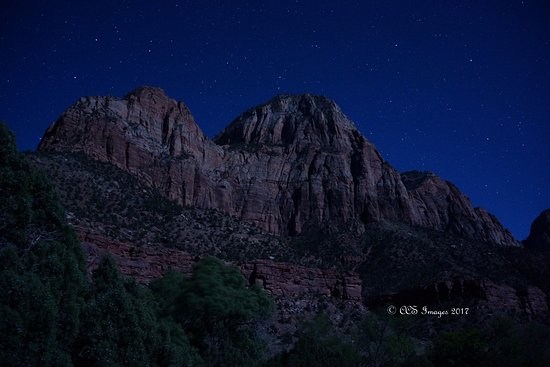 Springdale, UT: Zion Canyon by moonlight