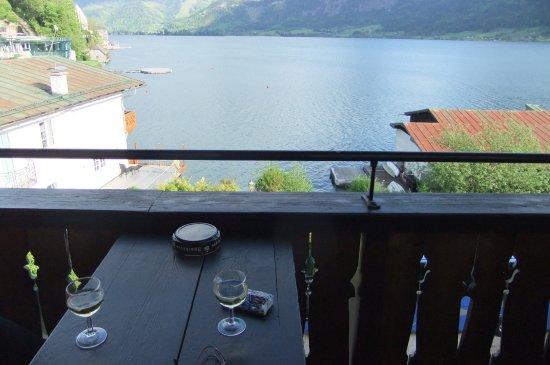 Fuschl am See, Österreich: Blick vom Balkon über den See