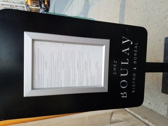 Chez Boulay-bistro boréal: Chez Boulay-bistro boreal