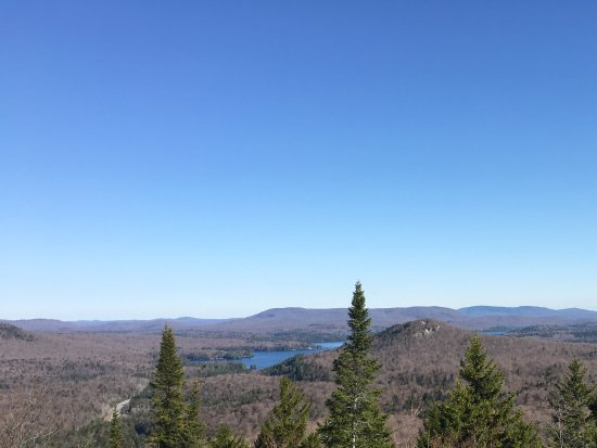 View facing Tupper Lake