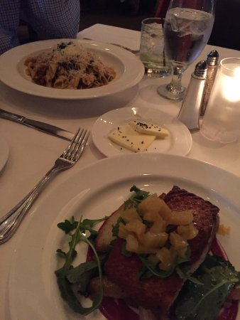 Hingham, MA: Salmon and Garganelli