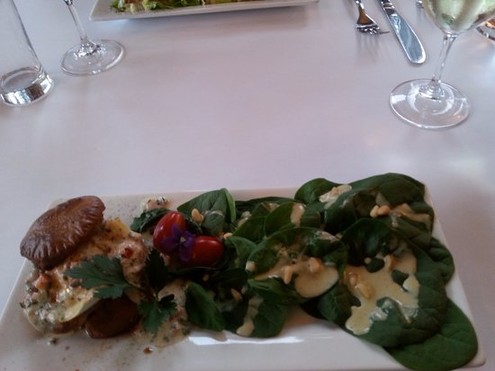 Eastman, Canada: This was to die for. Brie Crêpe, & incredible sauce on the spinach.. Ahhhhhhhh