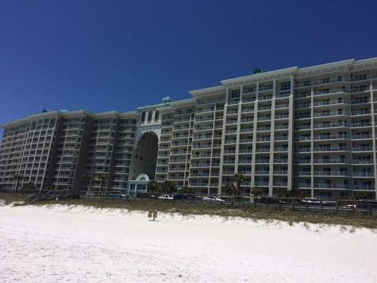 Wyndham Vacation Resorts Majestic Sun: View of the resort from the beach.