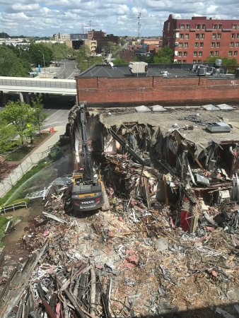 The Lofts Hotel: The destruction outside my window on the 5th Floor!