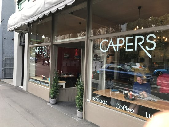 Capers Cafe: front view of Capers