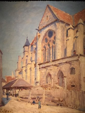 Гринвич, Коннектикут: A Sisley Impressionist painting, recently highlighted at The Bruce.