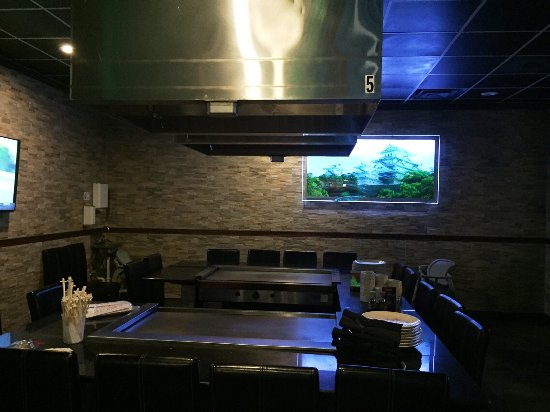 เมดีนา, โอไฮโอ: empty hibachi table with a fine picture of Osaka Castle