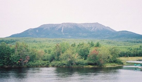 Millinocket, ME: Katahdin from Abol Bridge