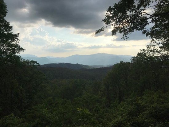 Dusk picture of roaring fork motor nature trail great for Roaring fork smoky mountains