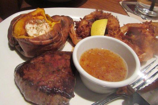Filet Mignon, Shrimp, Sweet Potato, Outback Steakhouse, Milpitas, CA