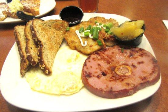 Shari S Resturant Ham Egg Latkes Apples Shari S Restaurant Livermore