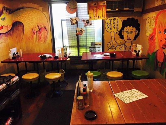 Tonsaiya Fukushima: 2階テーブル席
