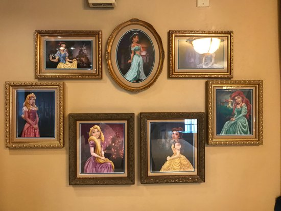 Disney S Port Orleans Resort Riverside Royal Room Princess Decor Actual Photo Framed