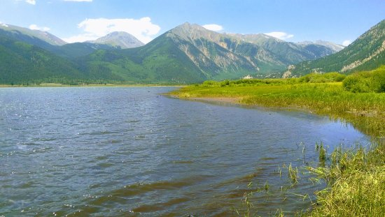 Leadville, Colorado: This is a photo from the western side of the big lake, and facing SW. Great views and fishing.