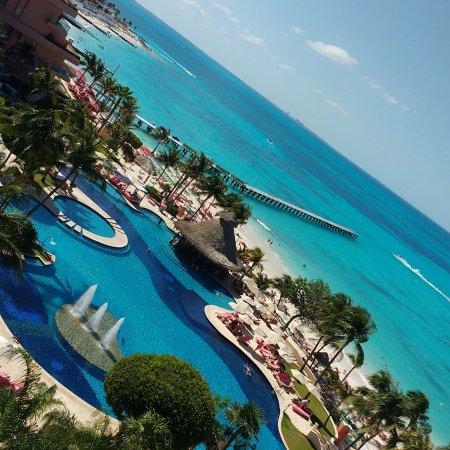 Grand Fiesta Americana Coral Beach Cancun: Excelente vista del 7mo piso!