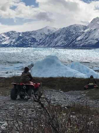 Palmer, AK: One of our group approaching the Knik Glacier!