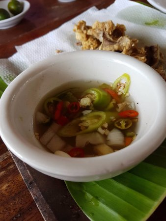 Caloocan, Philippines: the bulaklak sawsawan was filled with red and green chilli