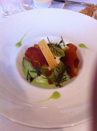 Dury, Frankrig: entrée tomate mozza revisitée