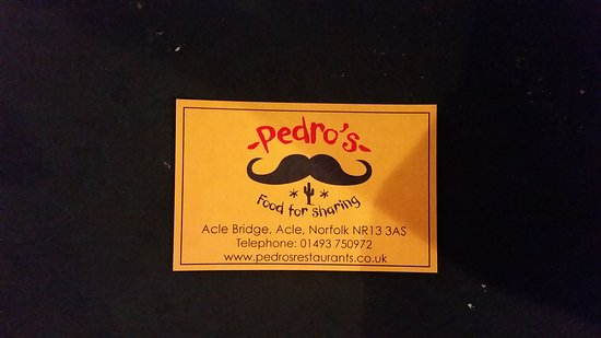Acle, UK: Pedro's