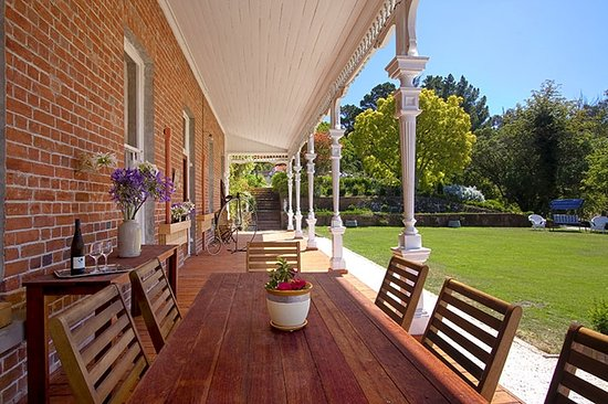 Ugbrooke Country Estate: veranda on to garden