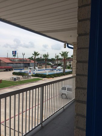 Baytown, TX: Pool view from second floor