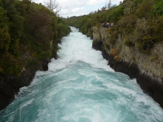 Taupo, New Zealand: View from a bridge