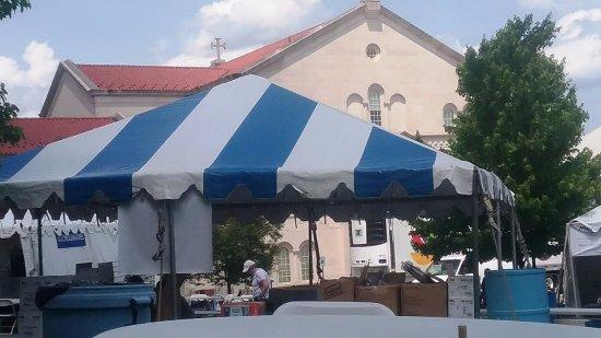 Saint Sophia Cathedral Vendors tents & Vendor tents - Picture of Saint Sophia Cathedral Washington DC ...